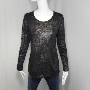 NEW! ~a.n.a.~ Shimmering Black Dressy Blouse Sz S